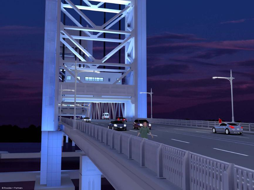 Proposed design for Fore River Bridge between Quincy and Weymouth.